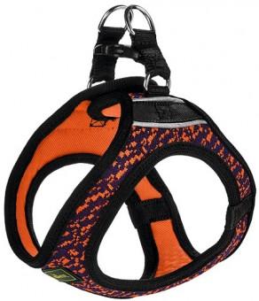 Hunter шлейка для собак 58-65 см Hilo Soft Comfort сетчатый текстиль оранжево-синяя