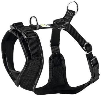 Hunter шлейка для собак Manoa XS (35-41 см) нейлон/сетчатый текстиль черная