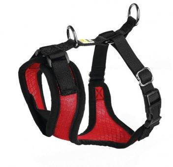 Hunter шлейка для собак Manoa M (44-55 см) нейлон/сетчатый текстиль красная