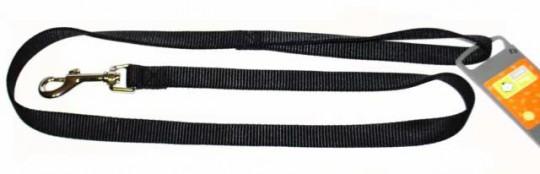 Hunter поводок для собак, длина 1 м, ширина 20 мм, Smart Ecco нейлон черный
