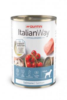 Italian Way (Италиан Вэй) 400 г консервы для собак с чувствительной кожей с лососем, томатами и рисом, Hypoallergenic Salmon