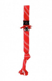 Rogz Игрушка веревочная шуршащая SCRUBZ , большая, красный
