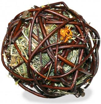 JR FARM Лакомство для грызунов Ивовый шар с сеном и календулой 80г