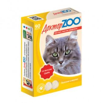 Доктор ZOO 90 таб. с сыром Мультивитаминное лакомство для кошек