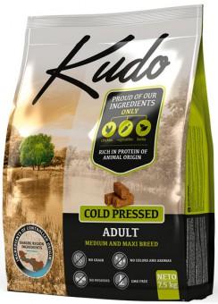 Kudo 2,5 кг Adult Dog Medium&Maxi breed Chicken беззерновой сухой корм холодного прессования для взрослых собак средних и крупных пород Цыпленок