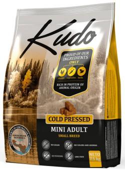 Kudo 2,5 кг Adult Dog Mini breed Chicken беззерновой сухой корм холодного прессования для взрослых собак мини пород Цыпленок