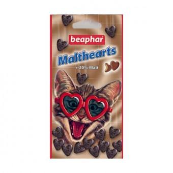 Beaphar Malthearts 150шт Лакомство-сердечки для кошек с мальт-пастой