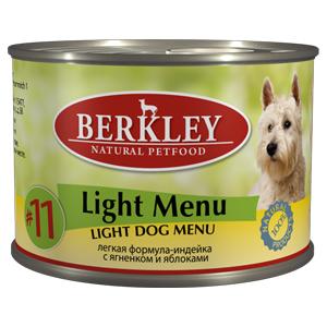 Berkley 200г Adult Индейка+ягнёнок Лёгкая формула Консервы для собак