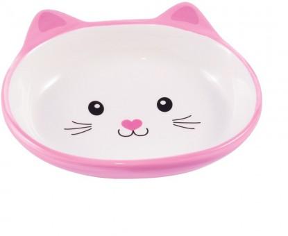КерамикАрт Миска для кошек Мордочка Кошки Розовая 160 мл