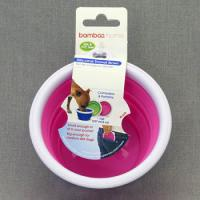 Bamboo Миска для собак (складная), объем 237 мл, силикон,  Silicon Travel Bowl (1 cup)