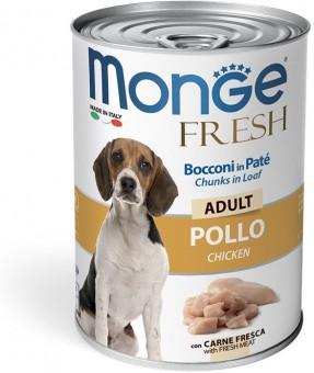 Monge Dog 400 г Fresh Chunks In Loaf Консервы для собак Мясной рулет с курицей
