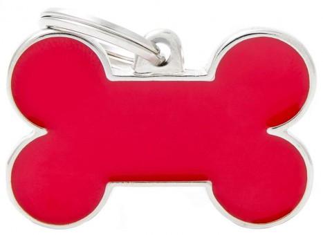 My Family (Май Фэмили) 3,5*2,5см Basic Handmade большой адресник ручной работы Красная косточка