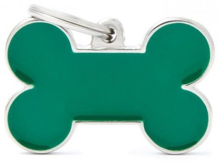 My Family (Май Фэмили) 3*2см Basic Handmade малый адресник ручной работы Зеленая косточка