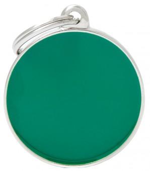 My Family (Май Фэмили) 2,5см Basic Handmade малый круглый адресник ручной работы Зеленый