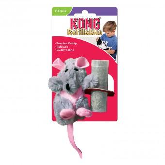 KONG игрушка для кошек Крыса 12 см плюш с тубом кошачьей мяты
