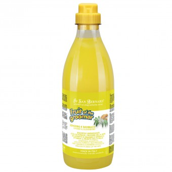 Iv San Bernard 1л Fruit of the Grommer Ginger&Elderbery Шампунь для любого типа шерсти против раздражений и перхоти