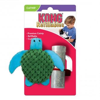 KONG игрушка для кошек Черепашка 9 см с тубом кошачьей мяты