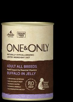 ONE&ONLY 400г консервы для собак всех пород с буйволом в желе