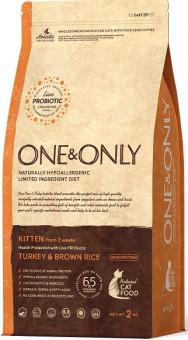 ONE&ONLY 2кг Turkey & Rice Kitten, индейка с рисом для котят