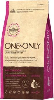 ONE&ONLY 0,4 кг Duck & Rice Adult Indoor, утка с рисом для домашних кошек