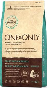ONE&ONLY 1кг Turkey & Rice Adult All Breeds Индейка с рисом для собак всех пород