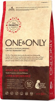 ONE&ONLY 12кг Lamb & Rice Adult All Breeds ягнёнок с рисом для собак всех пород