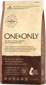 ONE&ONLY 1кг Rabbit & Rice Adult All Breeds кролик с рисом для собак всех пород