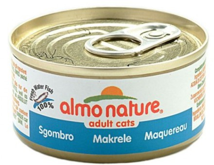 6шт Almo Nature 70гр с макрелью консервы для кошек Legend Adult Cat Mackerel