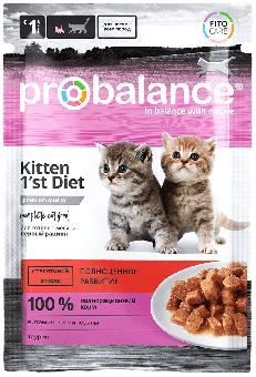 ProBalance 85гр 1'st Diet для котят с телятиной в желе, пауч, 25шт