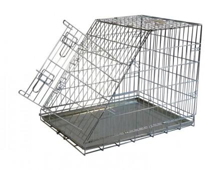Papillon Wire cage with slope side 150375  Клетка металлическая с уклоном, 75*54*60см