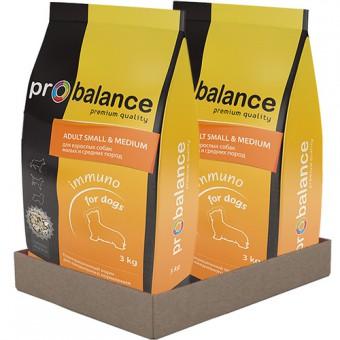 Probalance Small Medium 2 шт. х 3 кг корм сухой для взрослых собак мелких и средних пород