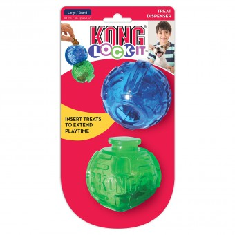 Kong игрушка для собак Lock-It мячи для лакомств, 2 шт.