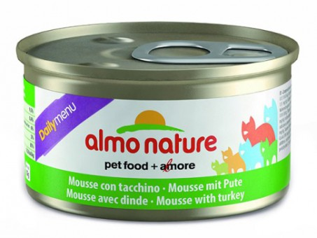 6шт Almo Nature 85гр меню с индейкой консервы для кошек Daili Menu Mousse Turkey