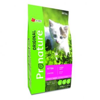 Pronature 0,35кг Original NEW kitten Сухой корм для котят от 2 до 12 месяцев с курицей