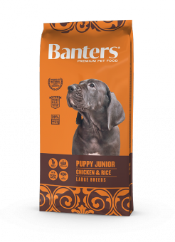 Banters 15 кг Dog Puppy junior Large Breeds Chicken & Rice Сухой корм для щенков крупных пород Курица и Рис