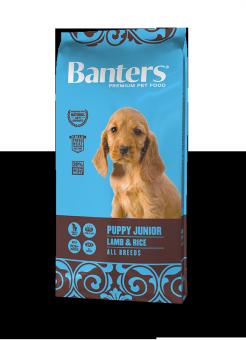 Banters 15 кг Dog Puppy Junior All Breeds Lamb & Rice Сухой корм для щенков всех порд Ягненок и Рис