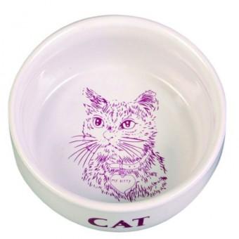 TRIXIE Керамическая миска для кошки 0.3л ф11см