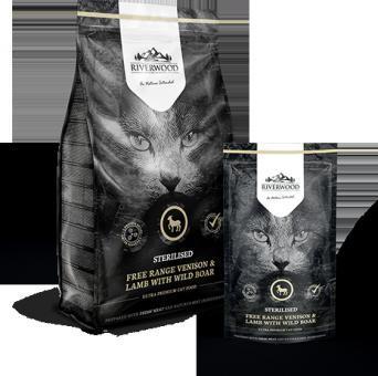 Riverwood Sterilised 2кг (Venison, Lamb with Wild Boar) сухой корм для стерилизованных кошек с олениной, ягненком и диким кобаном