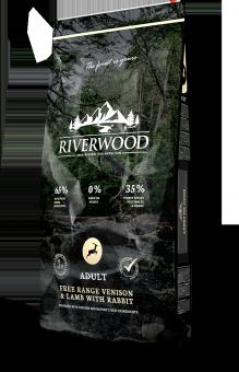 Riverwood Adult 2кг Venison Lamb Rabbit сухой корм для взрослых собак с оленем, ягненком и кроликом