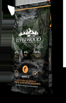 Riverwood Adult 2кг Scottish Salmon White Fish Herring сухой корм для взрослых собак с Шотландским лососем и белой рыбой