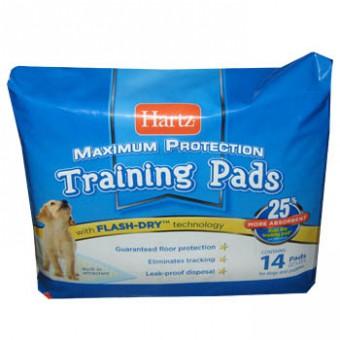 Hartz 54x54см 14шт Puppy Training Pads Впитывающие пеленки для щенков и собак