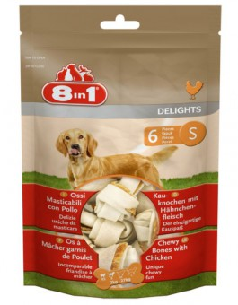 8in1 Delights S 11 см 6 шт косточки для собак мелких и средних пород