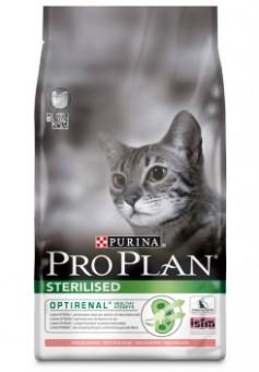 Pro Plan 3кг Sterilized salmon  Сухой корм для кастрированных котов и стерилизованных кошек лосось