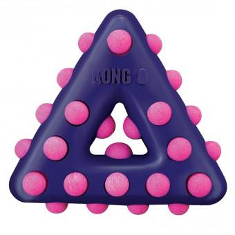KONG игрушка для собак Dotz треугольник большой 17 см