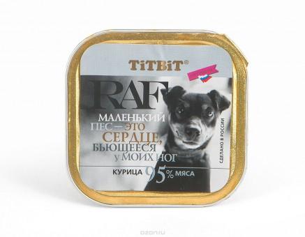 Паштет для собак RAF с курицей
