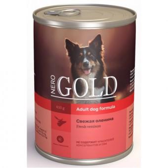 Nero Gold 410г Venison консервы для собак, Свежая оленина