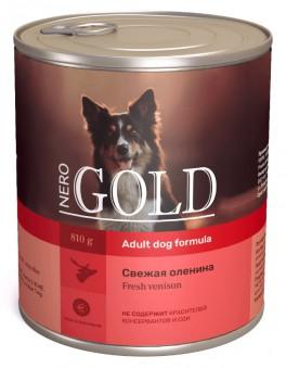 Nero Gold 810 г Adult Dog Formula Fresh Venison консервы для взрослых собак Свежая Оленина