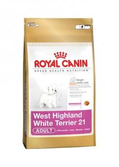 Royal Canin 1,5кг West highland white terrier 21 Для собак породы вест хайленд уайт терьер старше 10 месяцев