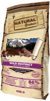 """Natural Greatness 600 г Wild Instinct Cat&Kitten Сухой корм Рецепт """"Дикий Инстинкт"""" для домашних кошек и котят с чувствительным пищеварением с мясом курочки и индейки"""