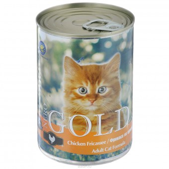 Nero Gold 0,8кг кусочки в желе для кошек Фрикасе из курицы